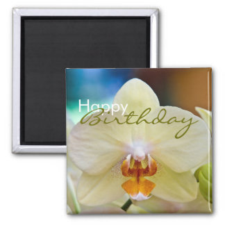 Orchid • Happy Birthday Magnet