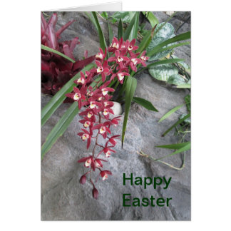 Orchid Happy Easter Card