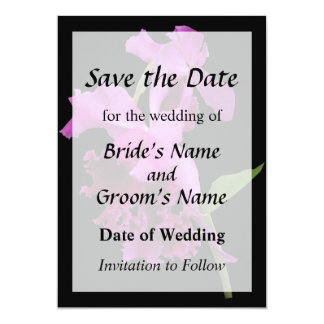 Orchid Harold Carls Save the Date Card