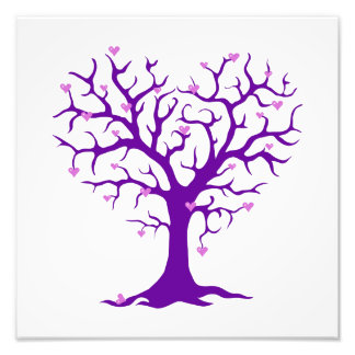 Orchid Heart Purple Tree Photo Print
