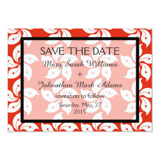 Orchid Hong Kong Flag Wedding Save The Date Card