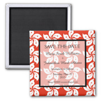 Orchid Hong Kong Flag Wedding Save The Date Magnet