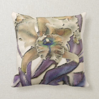 Orchid in Abstract, pillow