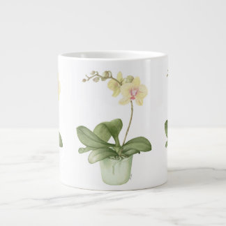 Orchid in Green Pot in Botanical Large Mug