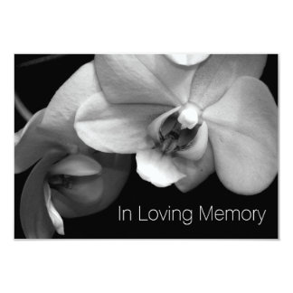 Orchid In Loving Memory 1 Celebration of Life Card