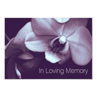 Orchid In Loving Memory 3 Celebration of Life Card