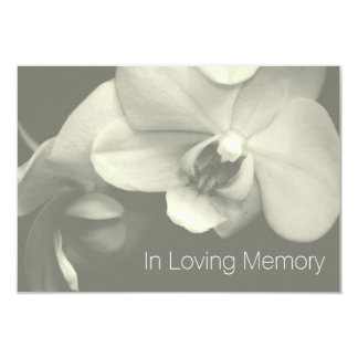 Orchid In Loving Memory 5 Celebration of Life 3.5x5 Paper Invitation Card