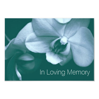 Orchid In Loving Memory 7 Celebration of Life Card