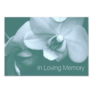 Orchid In Loving Memory 8 Celebration of Life Card