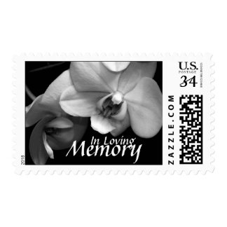 Orchid In Loving Memory Funeral Postage