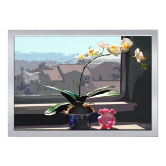 Orchid in Sunny Window Card
