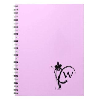 Orchid Inksplash 1 Monogram Notebooks