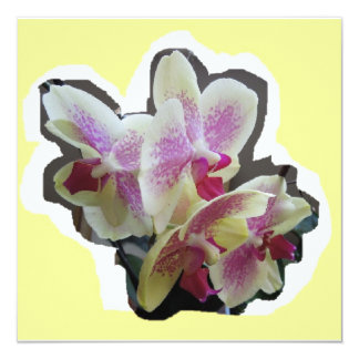 ORCHID INVITE BEAUTIFUL BIRTHDAY PARTY ANNIVERSARY