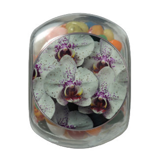Orchid Jelly Belly Candy Jar