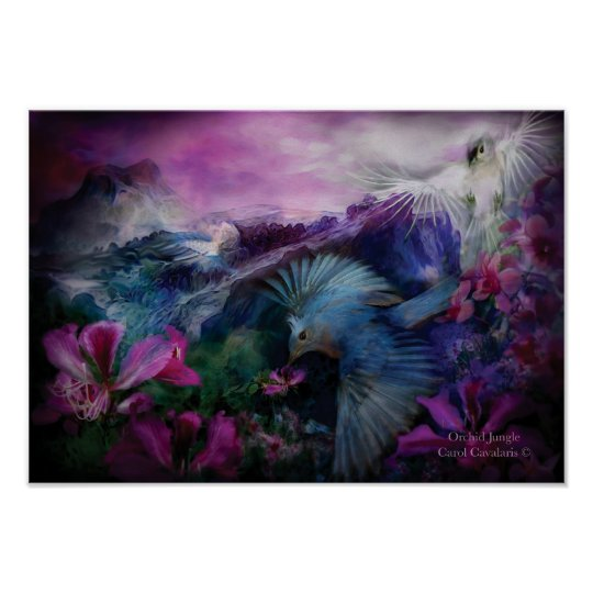 Orchid Jungle Art Poster/Print Poster