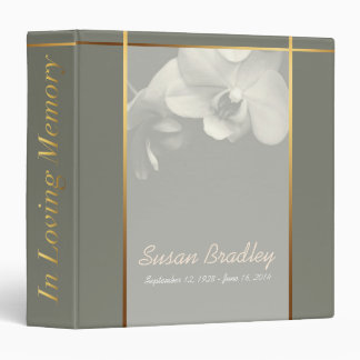 Orchid K Memorial Remembrance Books Personalized Binder