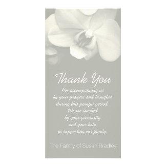 Orchid Kaki Sympathy Thank You Photo Card 6
