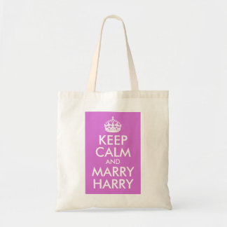 Orchid Keep Calm and Marry Harry Budget Tote Bag