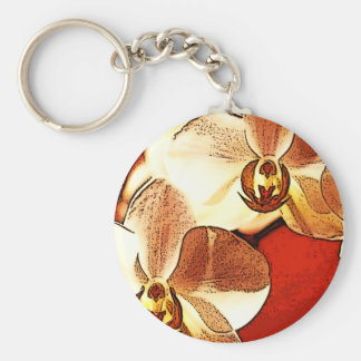 Orchid Key Chain