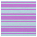 [ Thumbnail: Orchid & Light Blue Striped/Lined Pattern Fabric ]