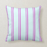 [ Thumbnail: Orchid & Light Cyan Pattern Throw Pillow ]