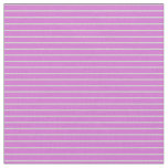 [ Thumbnail: Orchid & Light Grey Colored Striped/Lined Pattern Fabric ]