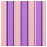 [ Thumbnail: Orchid, Light Pink, and Midnight Blue Pattern Fabric ]