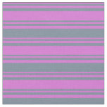 [ Thumbnail: Orchid & Light Slate Gray Colored Pattern Fabric ]