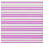 [ Thumbnail: Orchid & Light Yellow Stripes Fabric ]