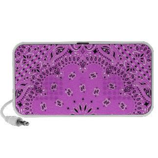 Orchid Lilac Paisley Western Bandana Scarf Print iPod Speaker
