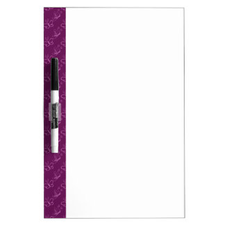 Orchid Lineart Butterfly Pattern Dry Erase Whiteboard