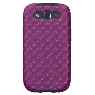 Orchid Lineart Butterfly Pattern Galaxy S3 Covers
