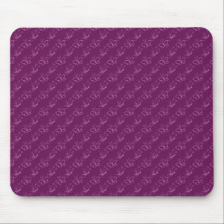 Orchid Lineart Butterfly Pattern Mouse Pad