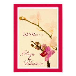 Orchid Love Amour Invite
