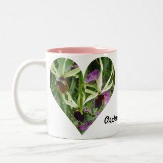 Orchid Love Two-Tone Coffee Mug