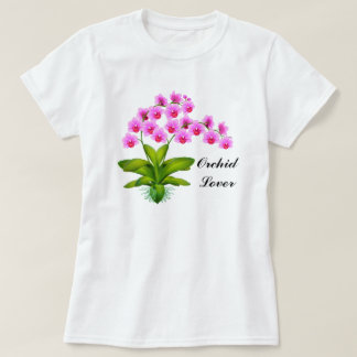Orchid Lover Pink Phalaenopsis Shirt