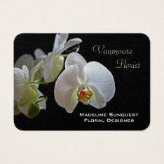 Orchid Luxury Pearl Florist Business Card at Zazzle