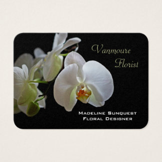 Orchid Luxury Pearl Florist Business Card