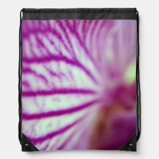 Orchid Macro Drawstring Backpack