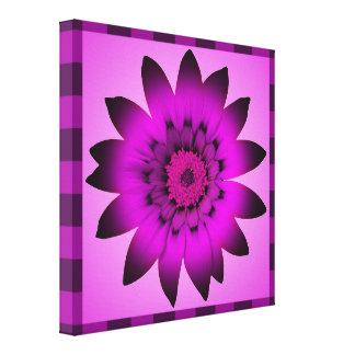 Orchid Magenta Flower artwork - Wrapped canvas