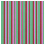 [ Thumbnail: Orchid, Maroon, and Sea Green Colored Pattern Fabric ]
