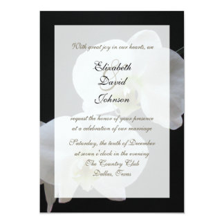 """Orchid Marriage Reception Only Wedding Invitation 5"""" X 7"""" Invitation Card"""