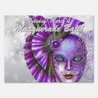 Orchid Masquerade Ball! Party Sign