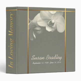 Orchid Memorial Remembrance Book Custom Binder