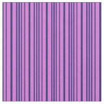 [ Thumbnail: Orchid & Midnight Blue Lines Pattern Fabric ]