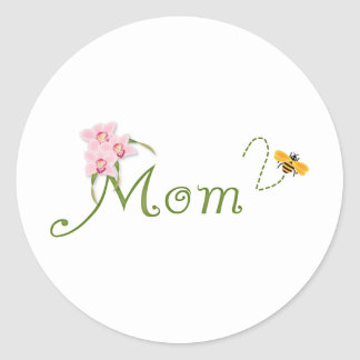 Orchid Mom To Be Classic Round Sticker