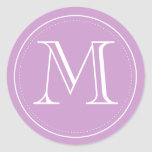 Orchid Monogram Envelope Seal by Origami Prints Classic Round Sticker