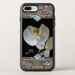 Orchid Monogram Pretty Floral Otterbox Symmetry Iphone 8 Plus/7 Plus Case at Zazzle