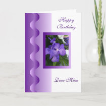 Orchid Mother Birthday Card