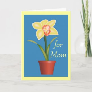 Orchid Mother's Day Card card